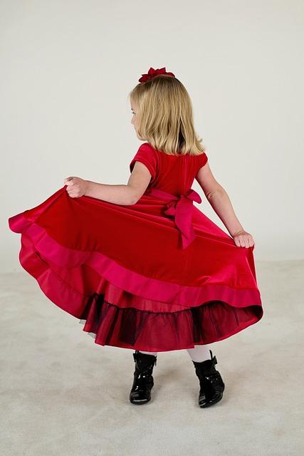 Free Photo Little Girl Red Dress Cute Dress Free
