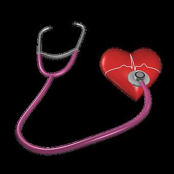 Heart, Shape, Stethoscope, Health Care