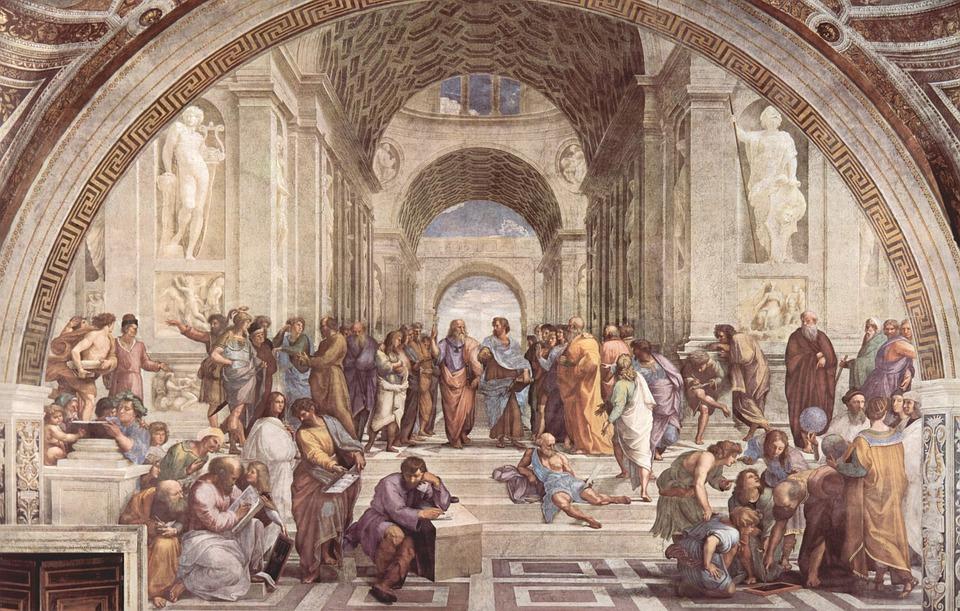 Escuela De Arte De Atenas, Raphaël, Pintor Italiano