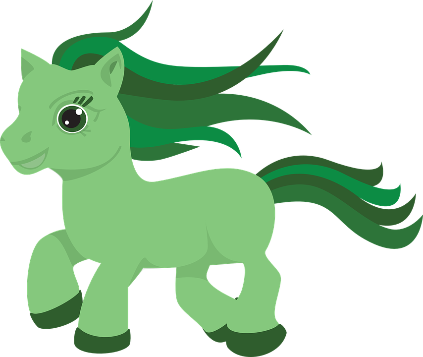 Pony Horse Green - Free vector graphic on Pixabay