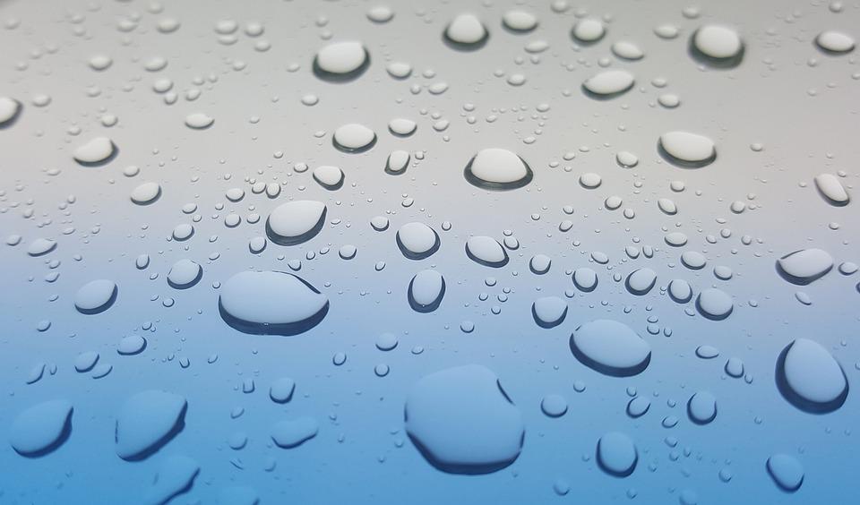 雨の雫, 雨, 水, しずく, ウェット, 天気予報, シャワー, グレー, ビーズ, 防水, H2O