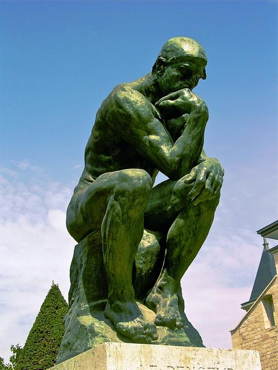 Myśliciel, Sierpień Rodin, 1881-1882, Brąz