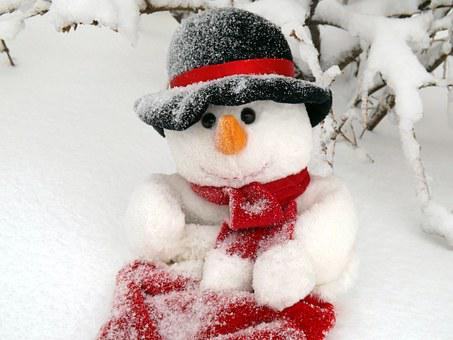 Snowman, Winter, Snow, Snowflakes, Toy