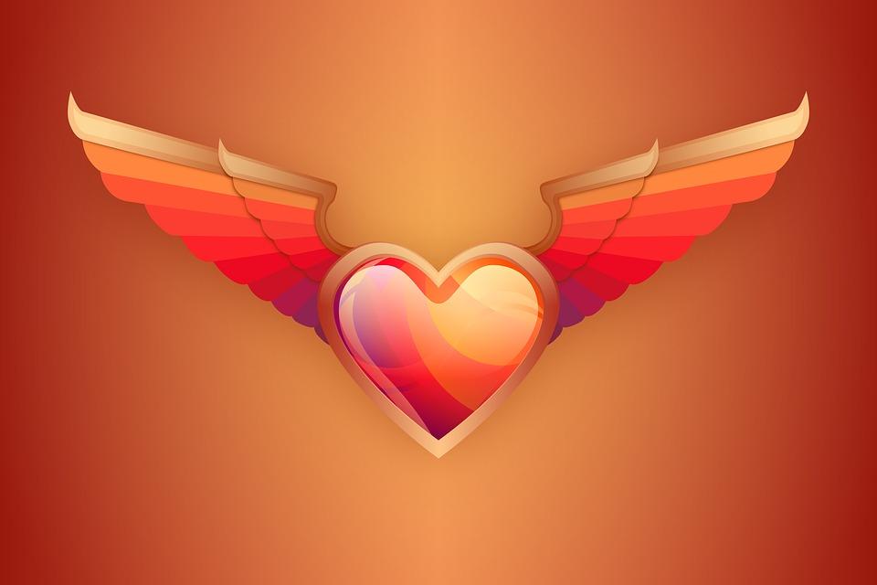 El Amor Corazón Alas Día De San Imagen Gratis En Pixabay