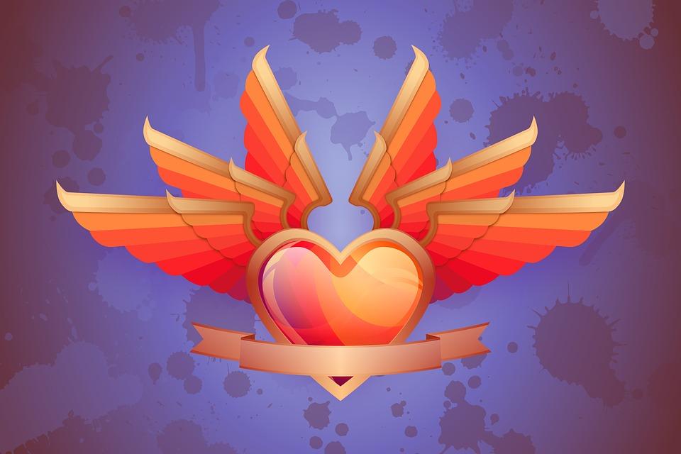 Corazón El Amor Alas Imagen Gratis En Pixabay