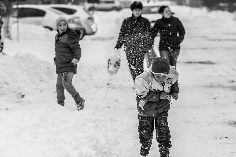 Black people in snow