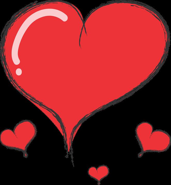 Hart nettes herz kostenlose vektorgrafik auf pixabay - Herzchen bilder ...