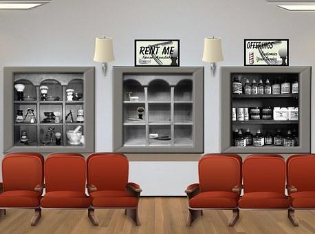Salon, Barber, Waiting Room, Hair