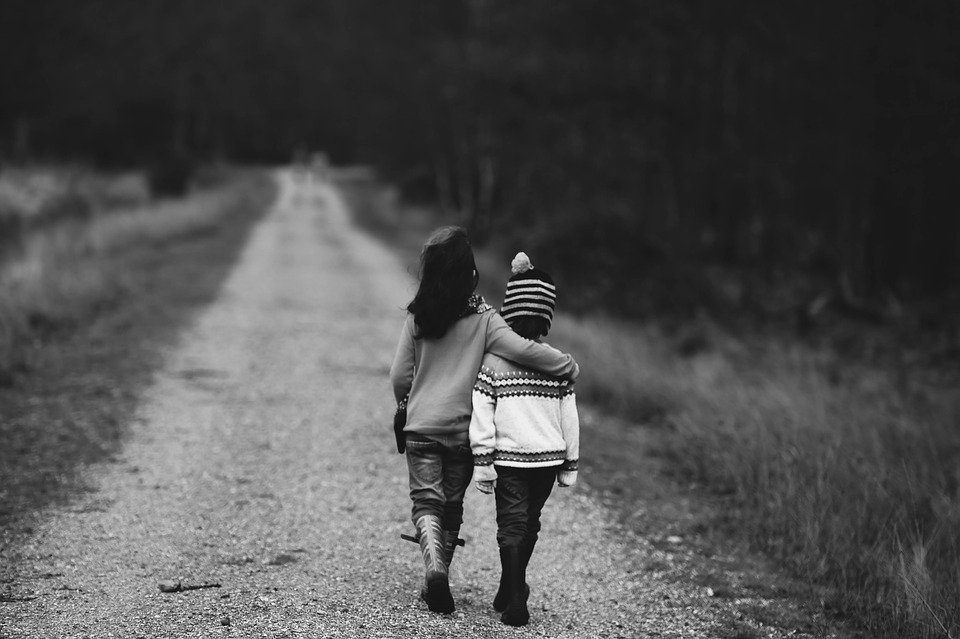 Children, Road, Supportive, Support, Dirt Road, Path