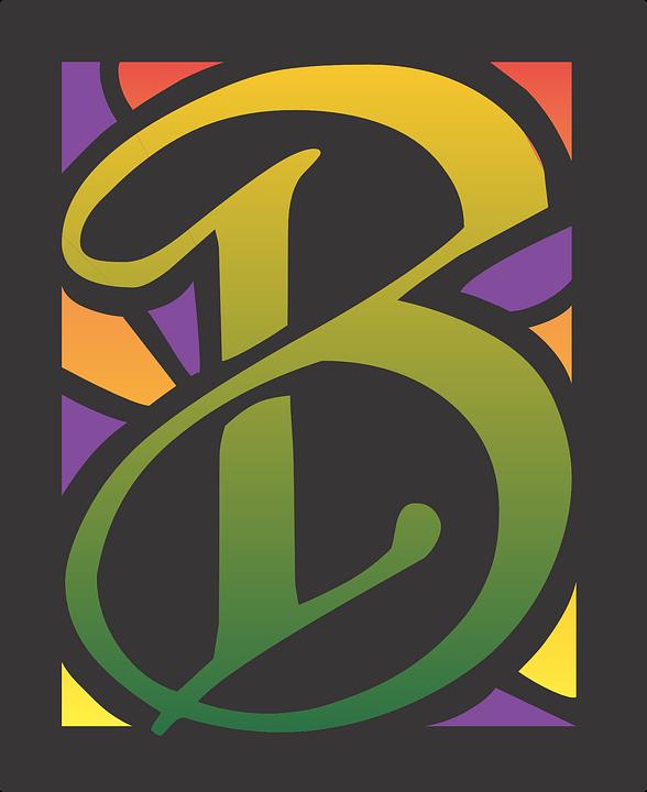 B Letter Alphabet Font Design Text Type