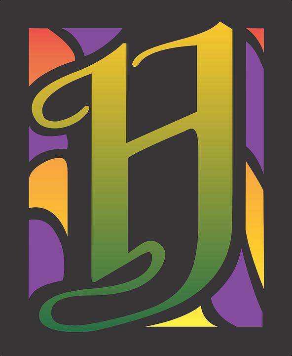 H Letter Alphabet Font Typography Abc Design