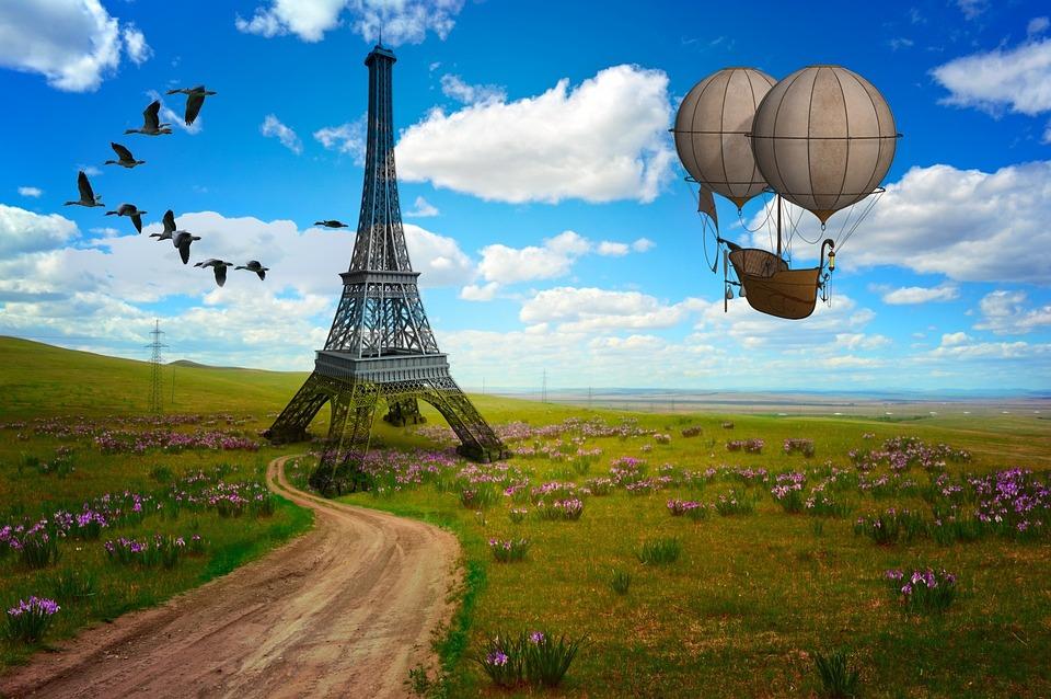 Free illustration wallpaper eiffel tower fantasy free