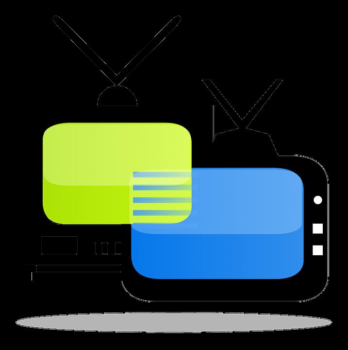 Televisão, Tv, Ícone, Logotipo, Design, Clip Art