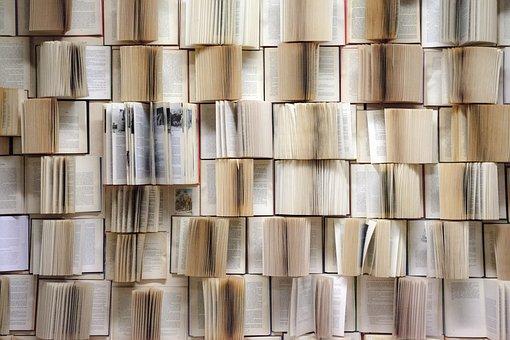 Book Wall, Books, Wall, Decorative
