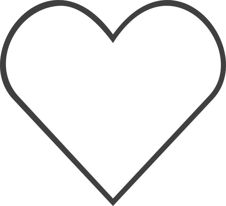 heart i like you free vector graphic on pixabay rh pixabay com vector heart outline ai heart vector black outline