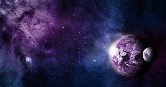 Terre, Lune, Espace, Voyage Spatial