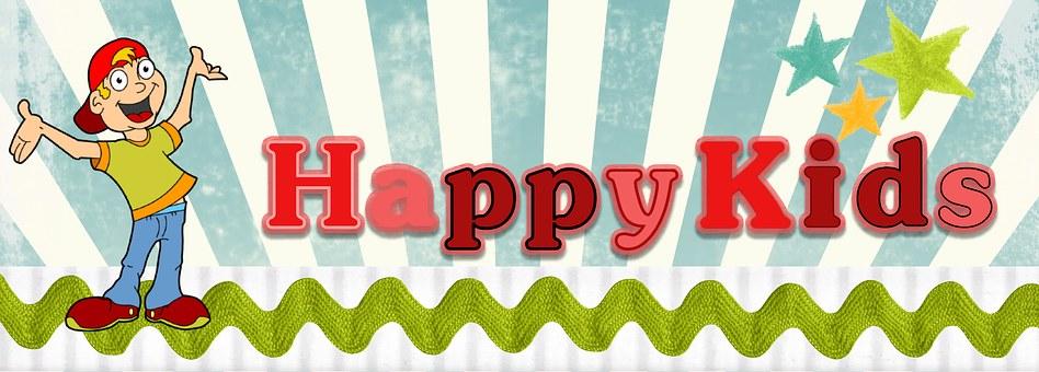 Children, Web, Banner, Happy Kids