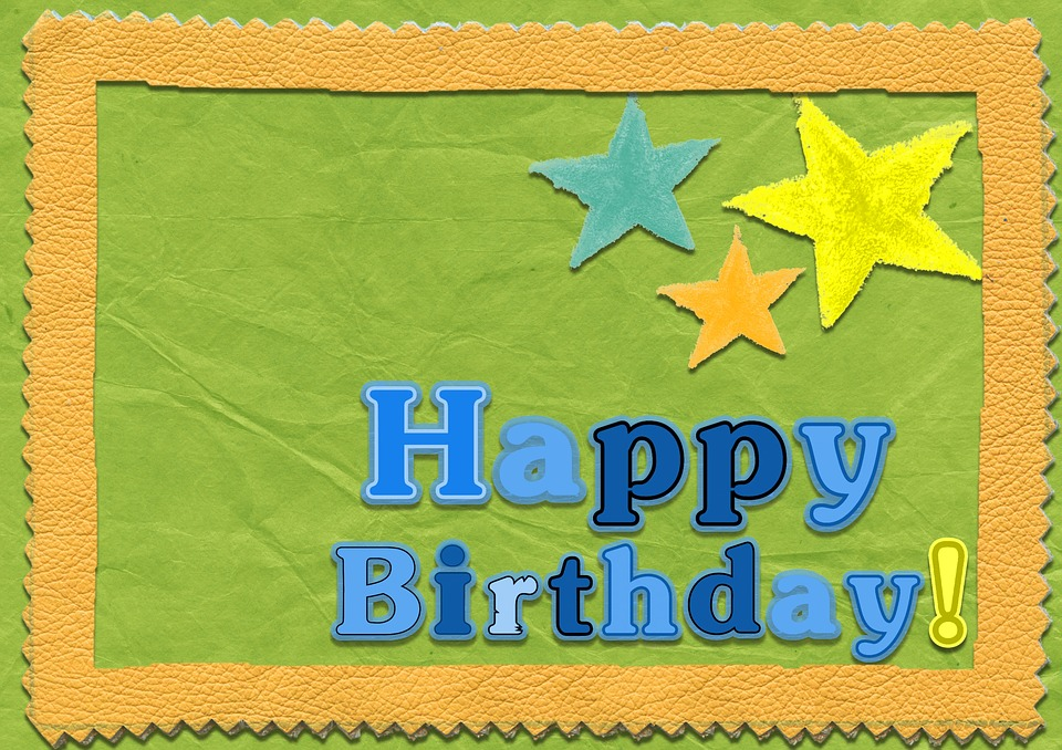 happy birthday template card free image on pixabay