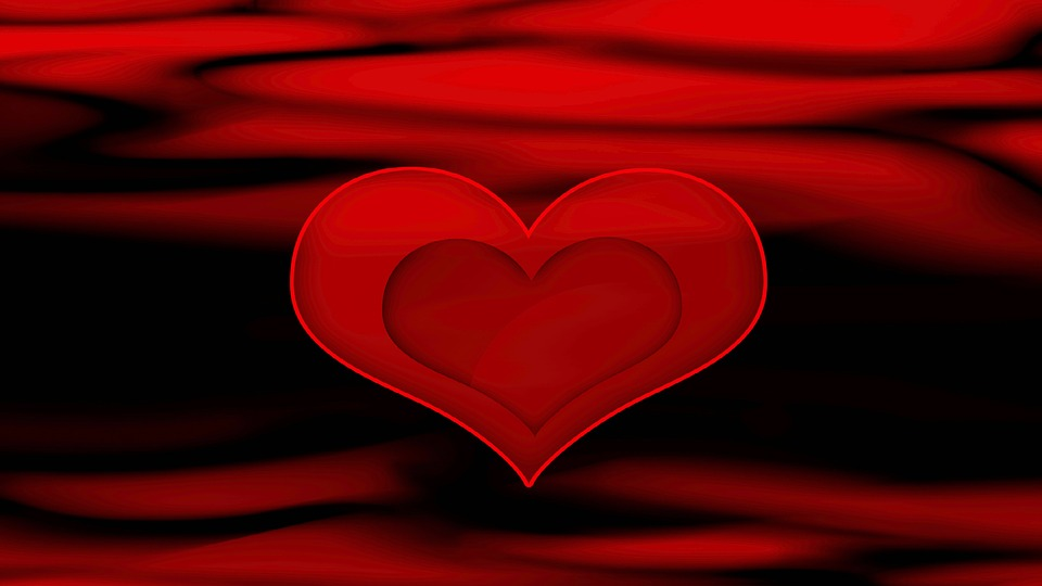 Red Black Heart Valentines Day Background Love