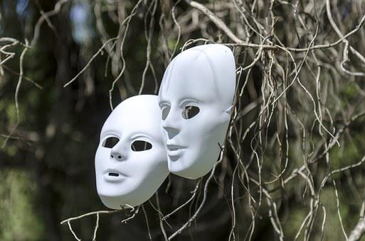 Masks, Field, Nature, Tree