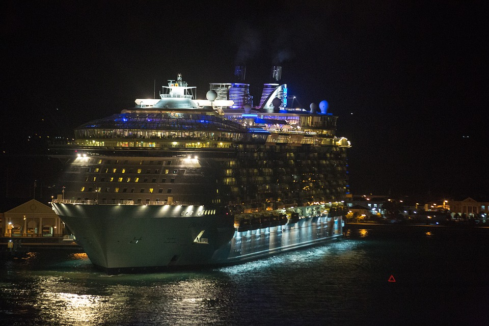 Cruise Ship, Royal Caribbean, Oasis Of The Seas, Night