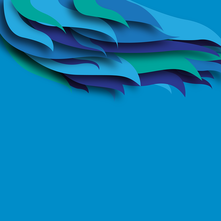 Free Illustration Blue Background Feather Abstract