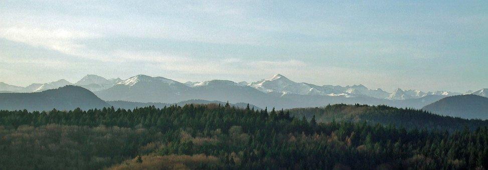 Pyrenees, Invierno, Montañas, Panorama