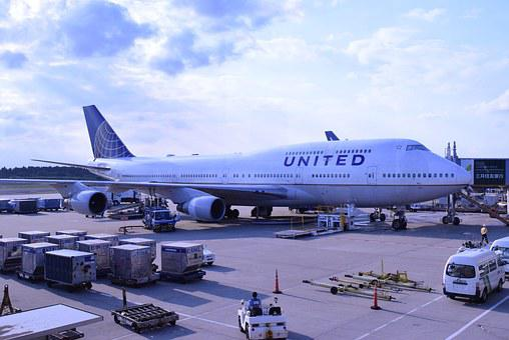 飛行機, 成田空港, ユナイテッド航空