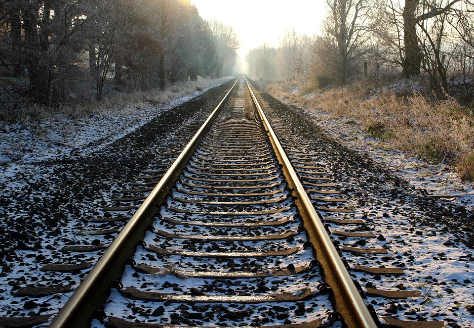 photo gratuite voie ferr233e paysage hiver frost image