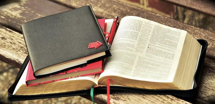 Book Read Bible Study Notes Write Pages Bo