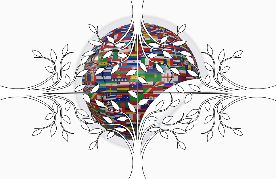 free illustration flags global ball about free image