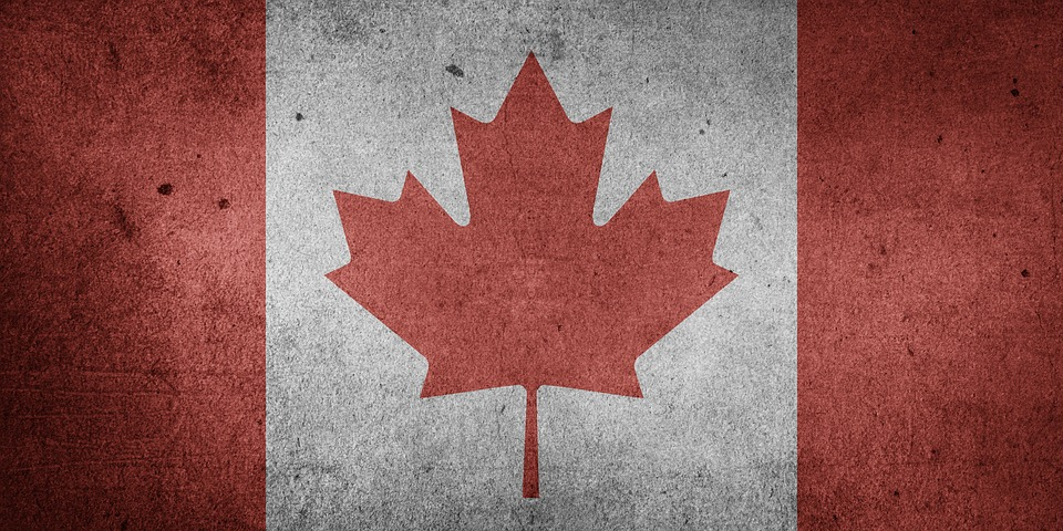 Canada, North America, National Flag, Flag, Grunge