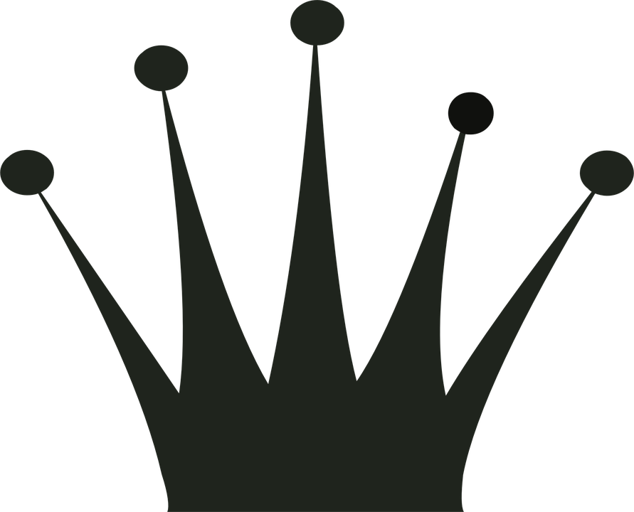 Crown black and white clipart - photo#54
