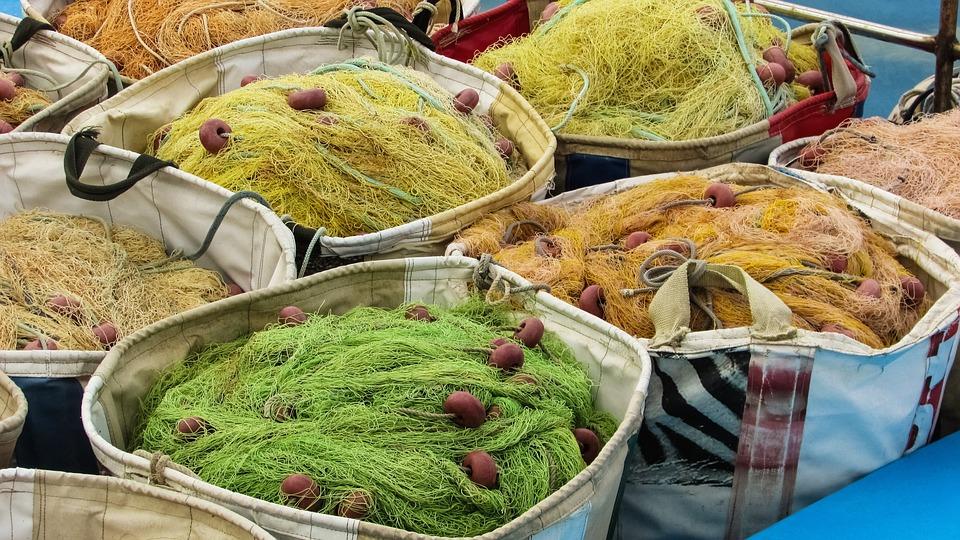 Cyprus, Liopetri, Potamos, Fishing, Nets