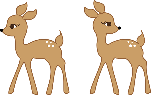 deer in forest clip art
