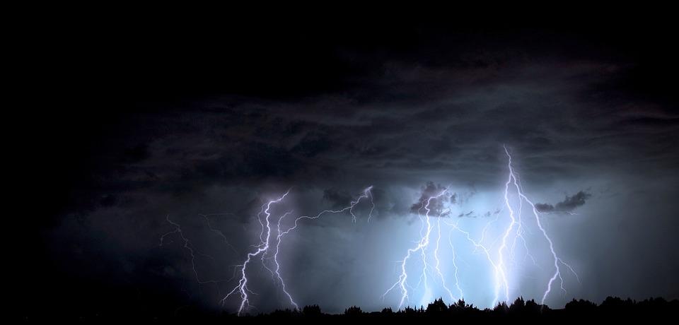 稲妻, 嵐, アリゾナ州, モンスーン, 雷の嵐, 電気, 天気予報, 空, 雨, エネルギー, ボルト
