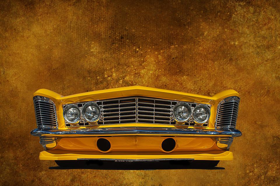 buick car auto yellow bumper wallpaper