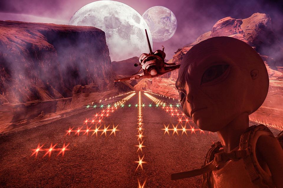 Navette, Alien, Navette Spatiale, Espace, L'Aviation