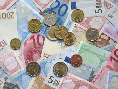 Euro, Banknoten, Münzen