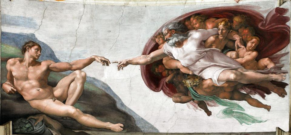 Création De L'Homme, Doigt De Dieu, Michel-Ange