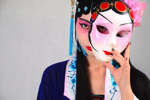 Beijing Opera, Mask, China, Woman