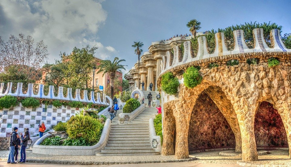 Free Photo Gaudi Guell Park Architecture
