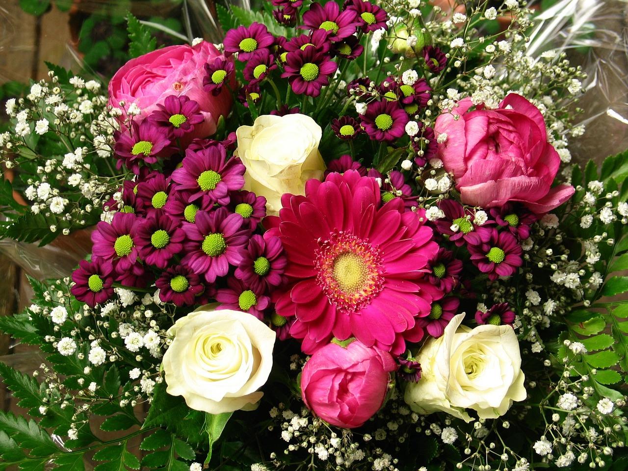 красивые картинки букетов цветов на день рождения всего