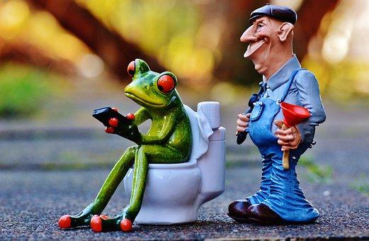 Klempner Frosch Klo Pömpel Reparieren Sitz
