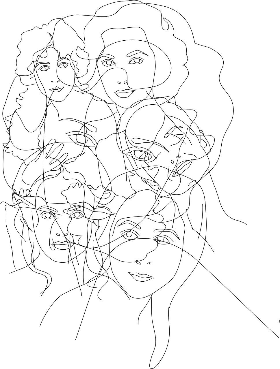 Mulheres Cara Desenho Imagens Gratis No Pixabay