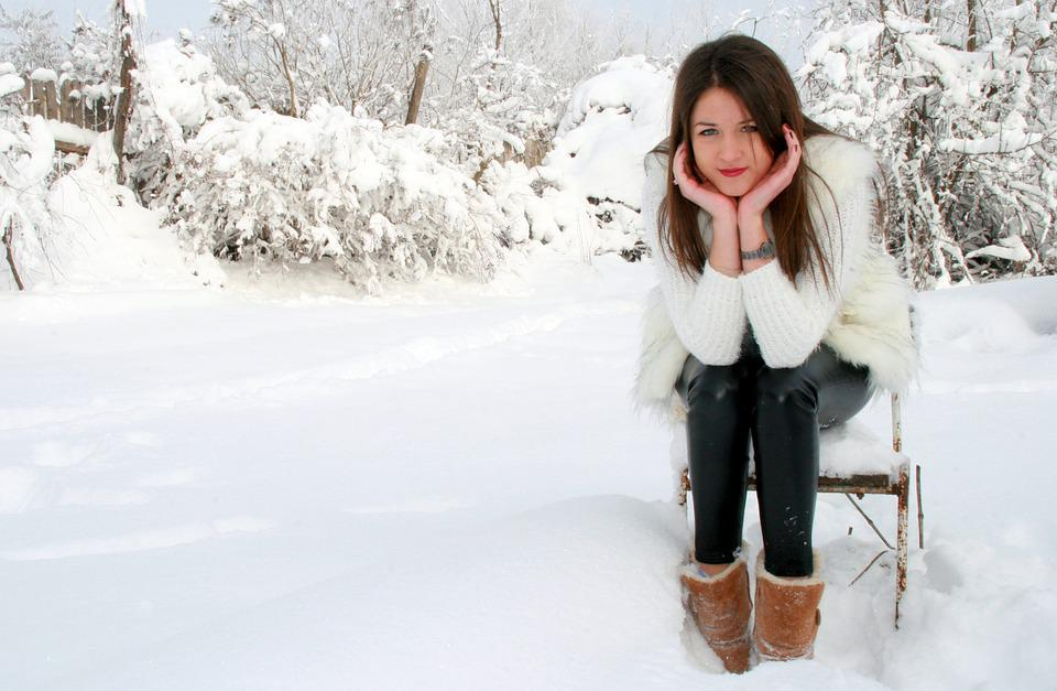 Free Photo Girl Snow Chair White Feerie Free Image