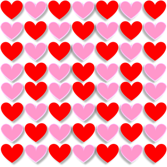 Hearts, Love, Valentine, Red, Pink, 3D