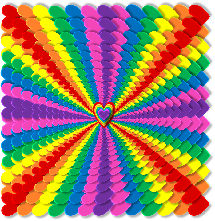 Arco Iris Corazones 3d Imagen Gratis En Pixabay