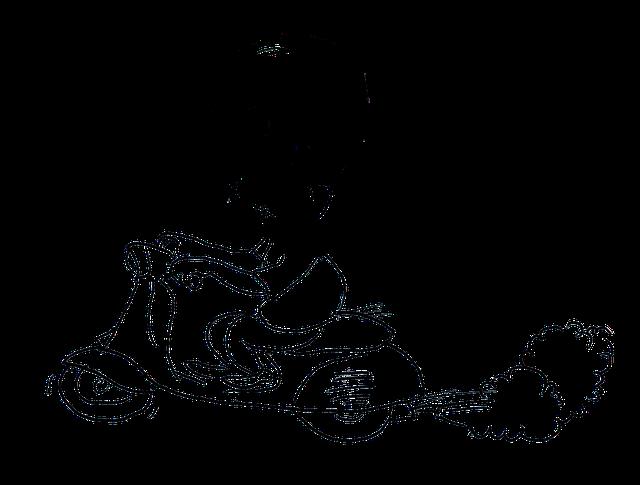 Motor Vespa Kartun Gambar Gratis Di Pixabay