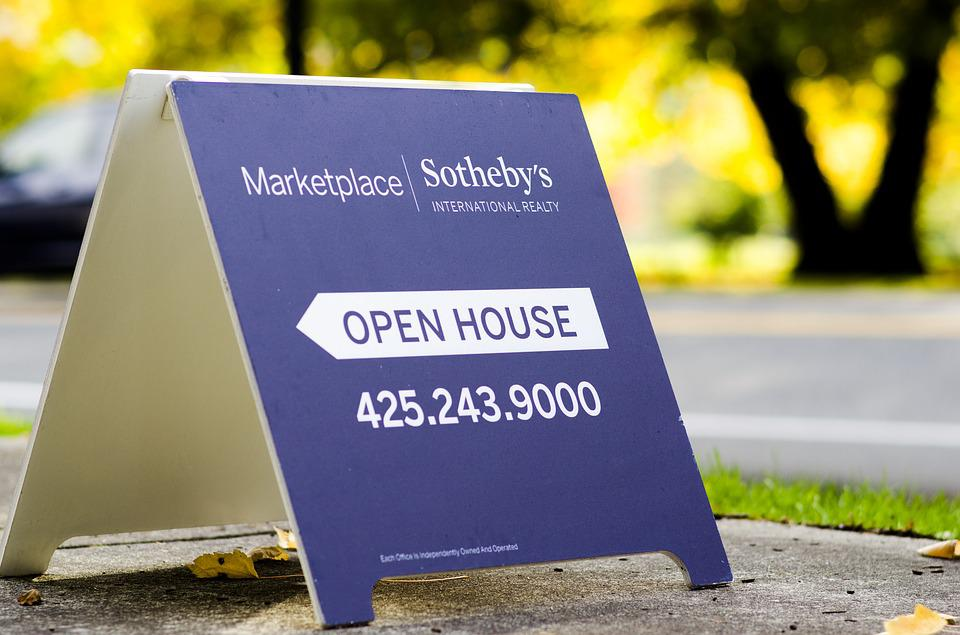 Free photo: Open House, Sign, Aboard, House - Free Image on ...